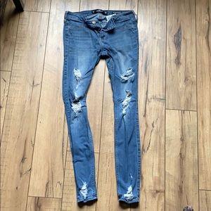Shredded Jean leggings sz 3R / 26